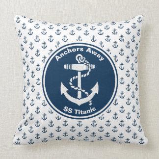 Anchors Away Nautical Personalize Cushion