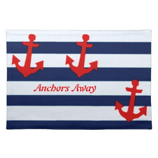 Anchors away placemat