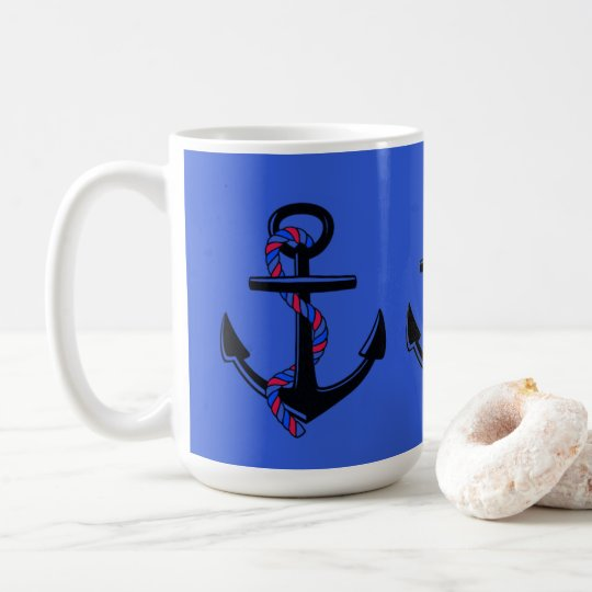 Anchor's Away_Rope_Blue-White-Giftware Coffee Mug