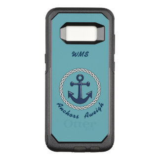 Anchors Aweigh Monogrammed OtterBox Commuter Samsung Galaxy S8 Case