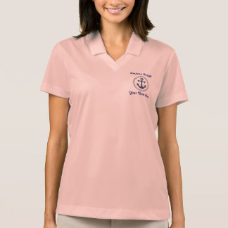 Anchors Aweigh Personalized Polo Shirt