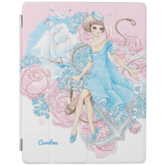 Anchors Aweigh (pink) iPad Cover