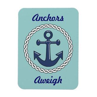 Anchors Aweigh Vert. Stateroom Door Marker Rectangular Photo Magnet
