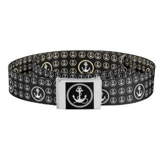 Anchors Black and Sepia Reversible Belt