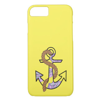 Anchors Forever blue and purple iPhone 7 Case