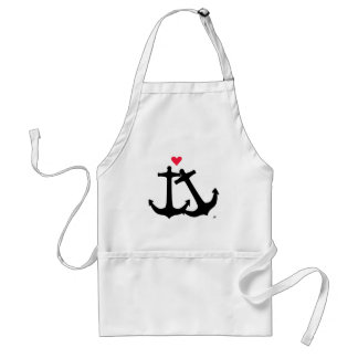 Anchors In Love Standard Apron