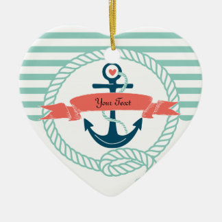Anchors Nautical - 2 sided Christmas Ornament