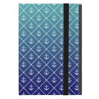 Anchors on gradient teal to blue background covers for iPad mini