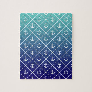 Anchors on gradient teal to blue background jigsaw puzzle