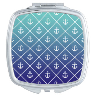 Anchors on gradient teal to blue background vanity mirrors