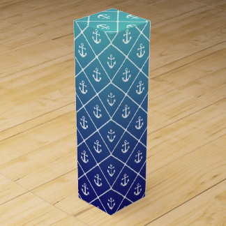 Anchors on gradient teal to blue background wine boxes
