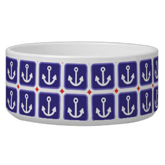 Anchors on Nautical Blue