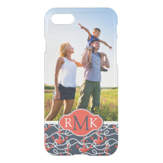 Anchors & Rope Pattern | Your Photo & Monogram iPhone 8/7 Case