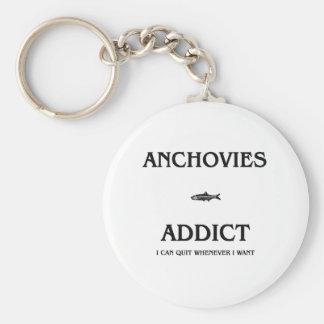 Anchovies Addict Key Ring
