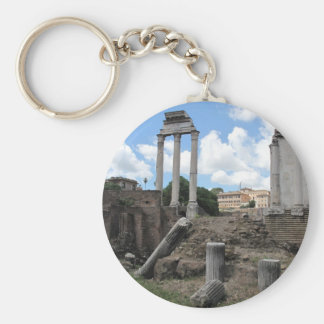 Ancient Agora temple pillar ruins Key Chain