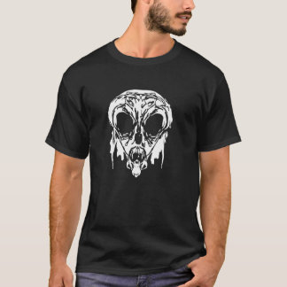 Ancient Alien Head Face Graphic Mens Tee Shirt