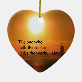 Ancient American Indian proverb Ceramic Heart Decoration