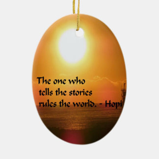 Ancient American Indian proverb Ceramic Oval Decoration