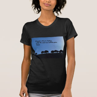 Ancient American Indian proverb T-Shirt