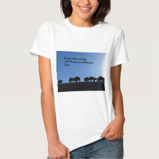 Ancient American Indian proverb T-shirts