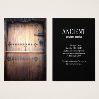 Ancient Antique Door Wood Vintage Business Card
