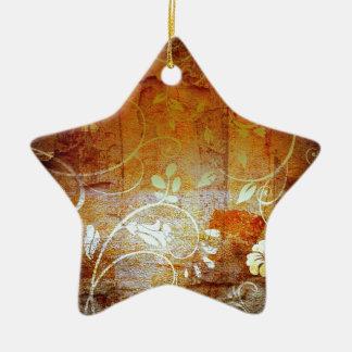Ancient Antique Wallpaper Pattern Dark Eerie Desig Ceramic Star Decoration