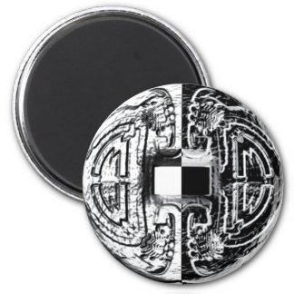Ancient Art 6 Cm Round Magnet