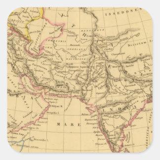 Ancient Asia Square Sticker
