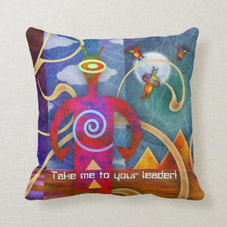 Ancient Astro Alien Angels Ascending Throw Pillow