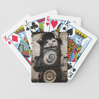 Ancient Astrology Timepiece Clock in Prague Czech Bicycle Playing Cards