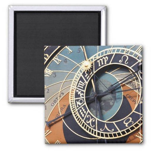 Ancient Astrology Timepiece Czech Clock. Fridge Magnet