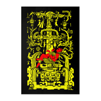 Ancient astronaut yellow & red version acrylic print