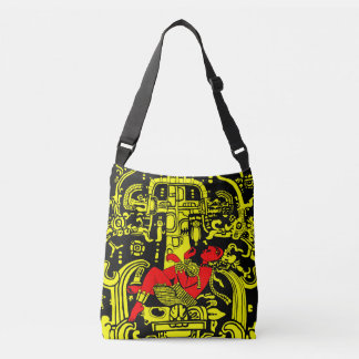 Ancient Astronaut – yellow & red version Crossbody Bag