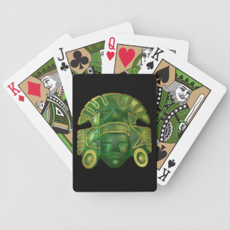 Ancient Aztec Sun Mask Bicycle Playing Cards