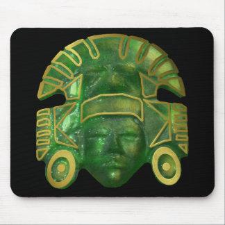 Ancient Aztec Sun Mask Mouse Mat