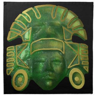 Ancient Aztec Sun Mask Napkin