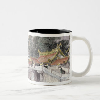Ancient Bridge over the River at Chapro, c.1850 (c Two-Tone Coffee Mug