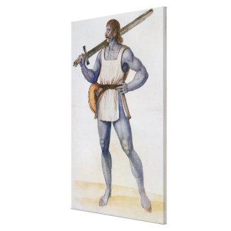 Ancient British Man Canvas Print