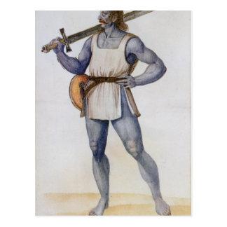 Ancient British Man Postcard