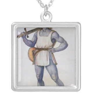 Ancient British Man Silver Plated Necklace