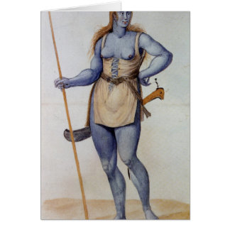Ancient British Woman Card