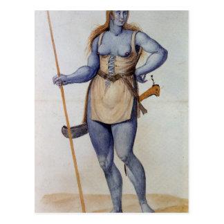 Ancient British Woman Postcard