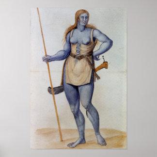Ancient British Woman Poster