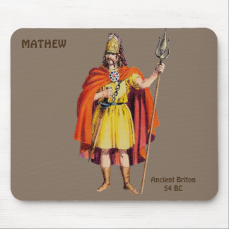 ~ Ancient Briton COSTUME ~Personalised for MATHEW~ Mouse Mat