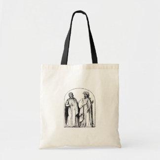 Ancient Britons Druids Antique Engraving Design Tote Bags
