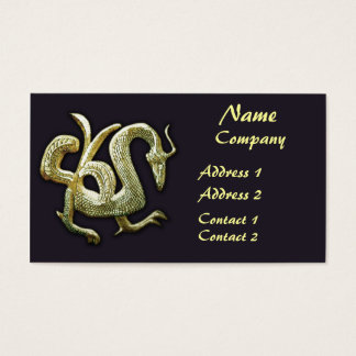 Ancient bronze chinese dragon business card