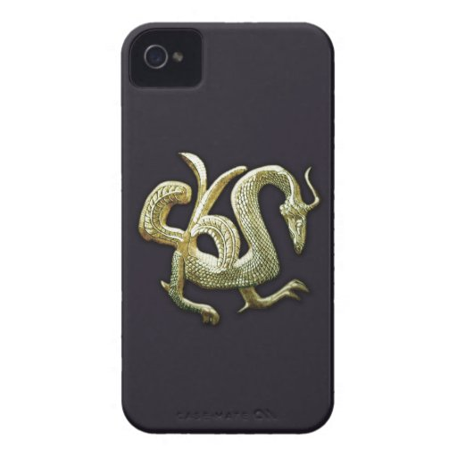 Ancient bronze chinese dragon blackberry cases