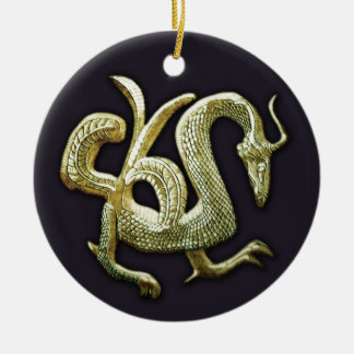 Ancient bronze chinese dragon christmas ornament