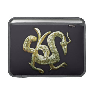 Ancient bronze chinese dragon sleeve for MacBook air