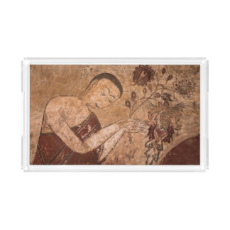 Ancient Buddhist Painting Acrylic Tray